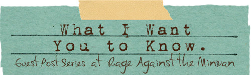 what I want you to know: blindness isn't a tragedy : Rage Against