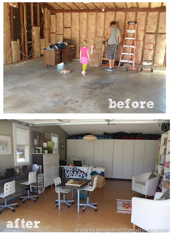 Garage Remodel Playroom Conversion Before And After