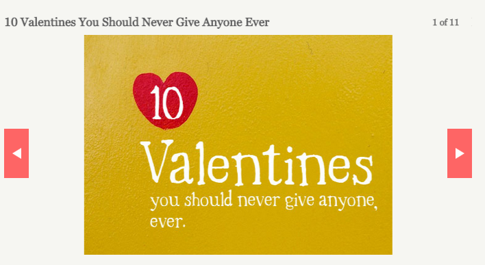 Most inappropriate valentines day