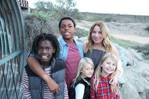 kristen with kids
